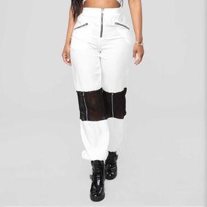 Jogger Pants - White/Black
